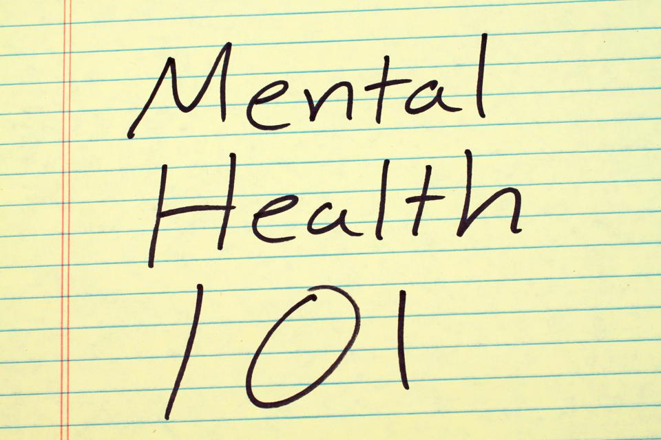 Mental Health 101 On A Yellow Legal Pad