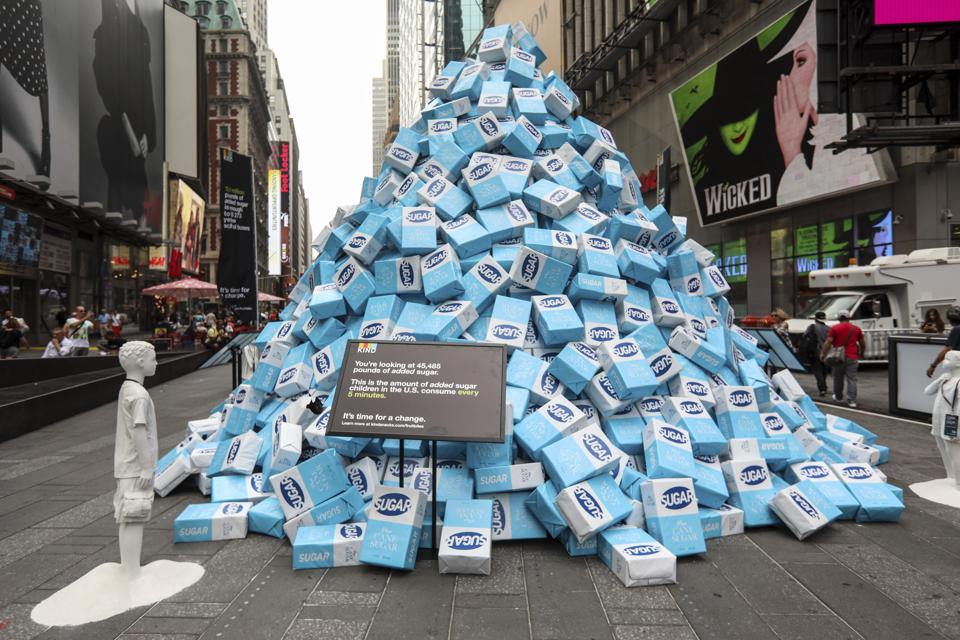Art Installation of 45,000 Pounds Of Sugar In Times Square