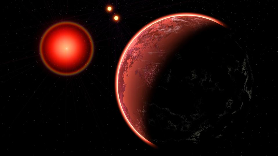 Proxima B Planet, Orbiting Proxima Centauri, a Red Dwarf Star.