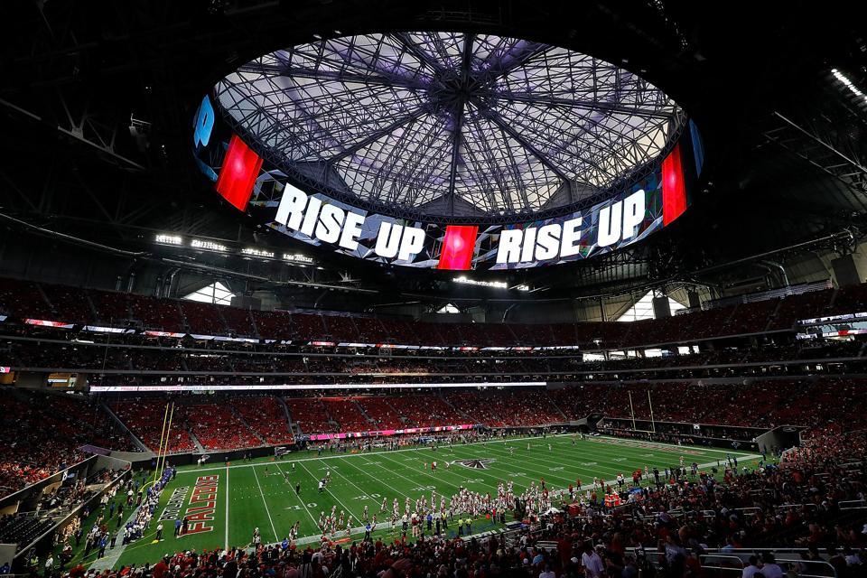 A Bird S Eye View Of Mercedes Benz Stadium Atlanta S Epic