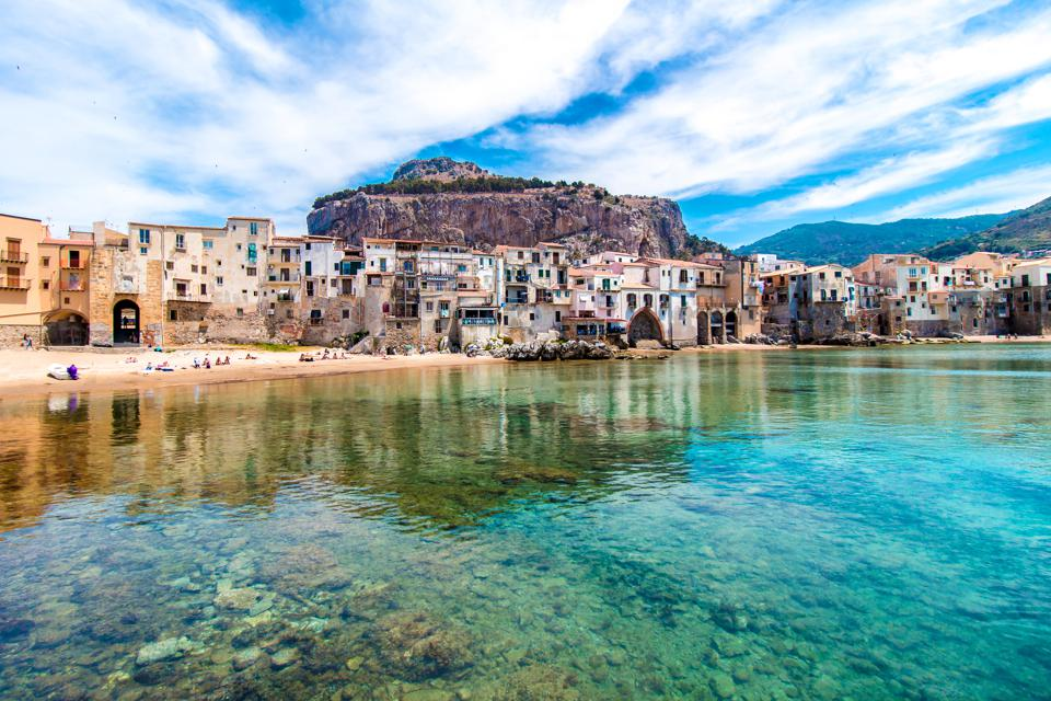 Beautiful view of cefalu, Sicily. It's one of the best places to visit.