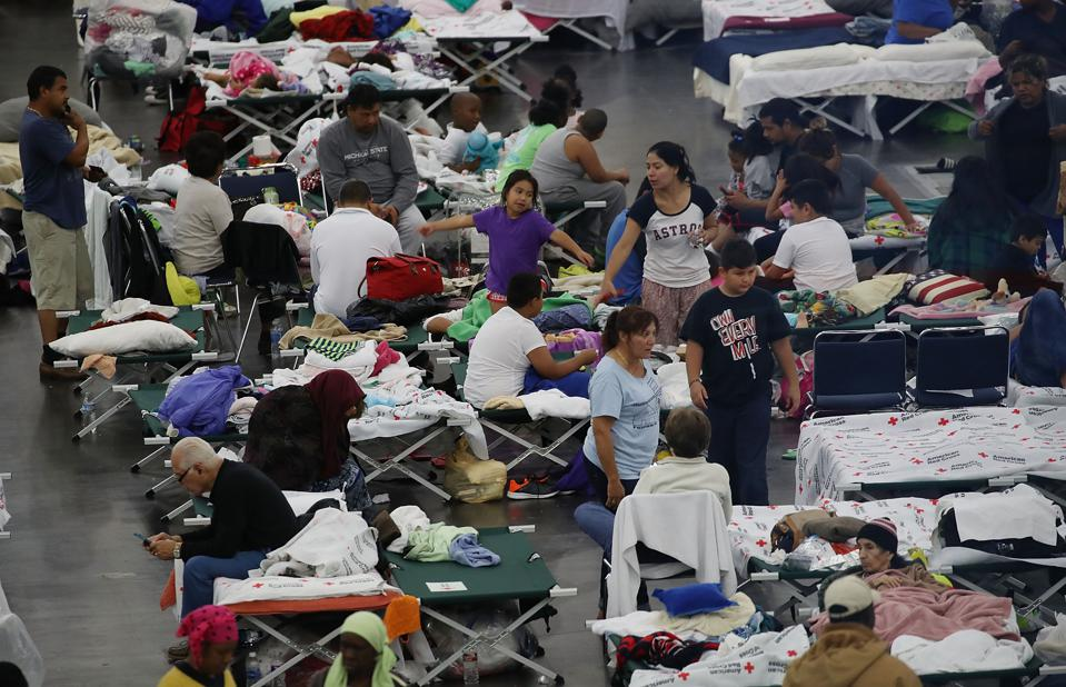 Hurricane shelters don't do social distancing