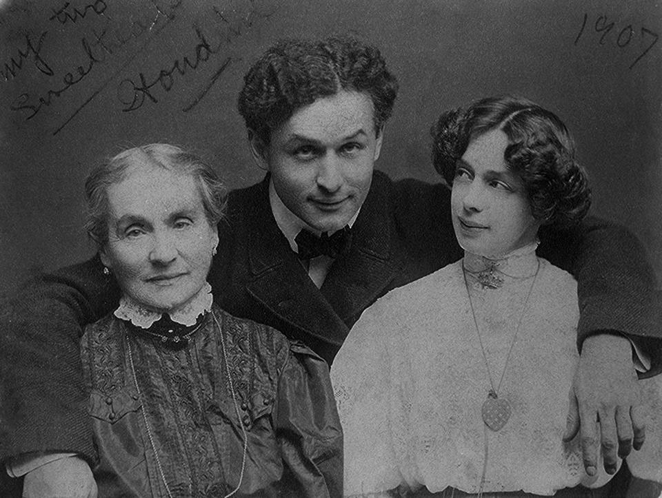Harrry Houdini Portrait with His Mother and Wife