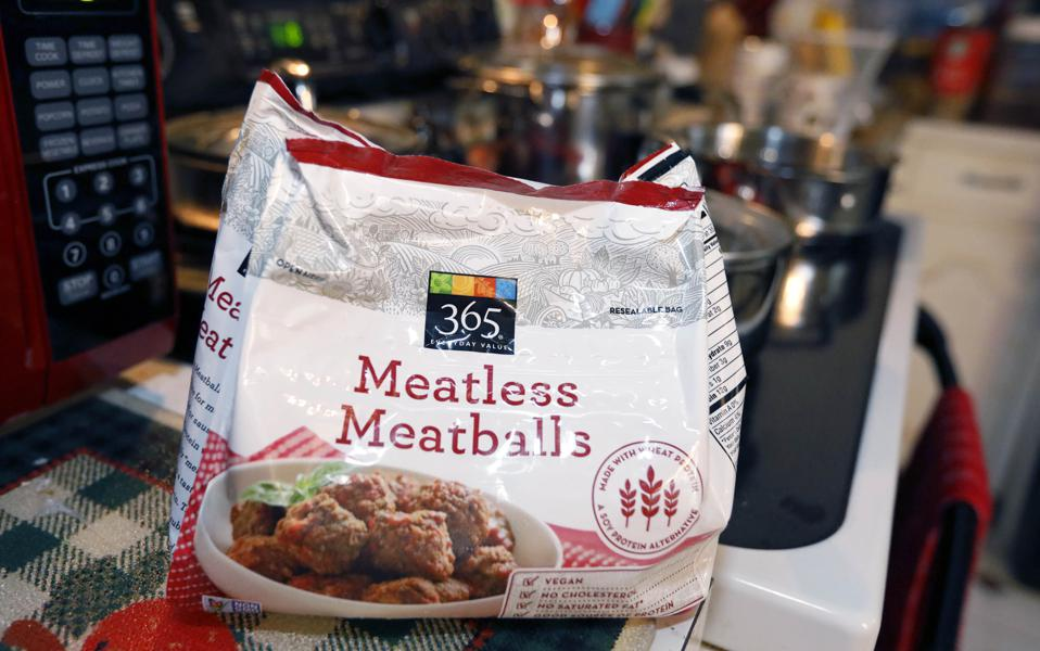 Meatless meatballs. AP Photo/Rogelio V. Solis