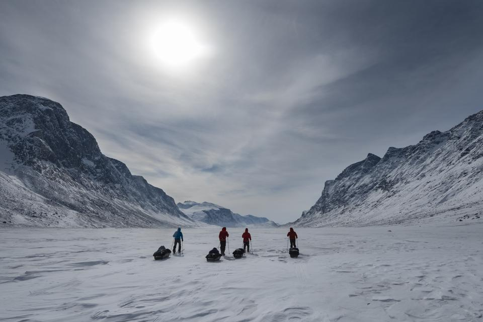 Skiing Through Canada's Akshayuk Pass