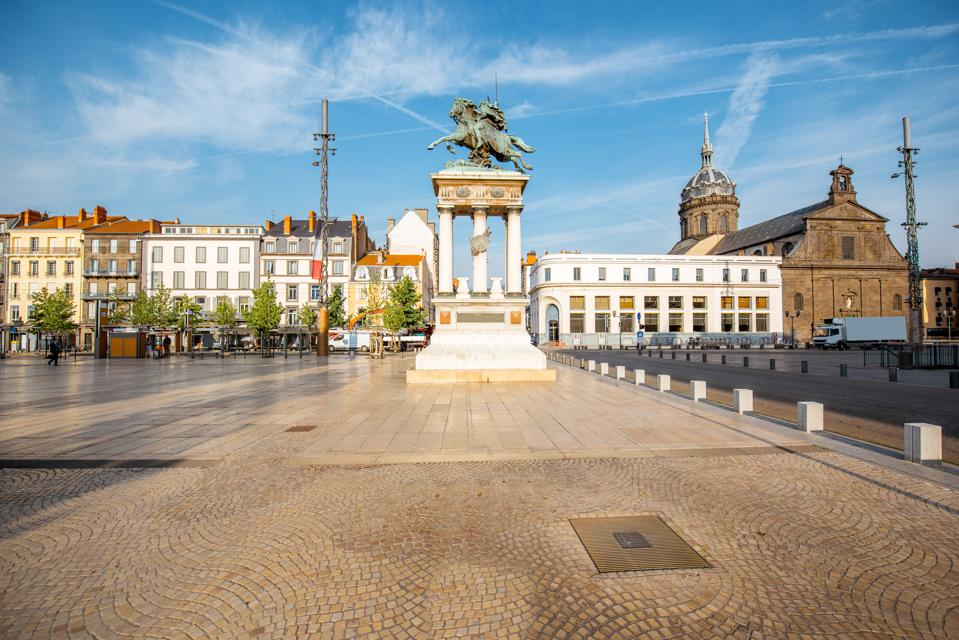 Jaude square in Clermont-Ferrand, France