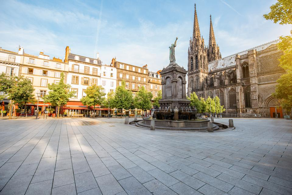 Victory square in Clermont-Ferrand, France