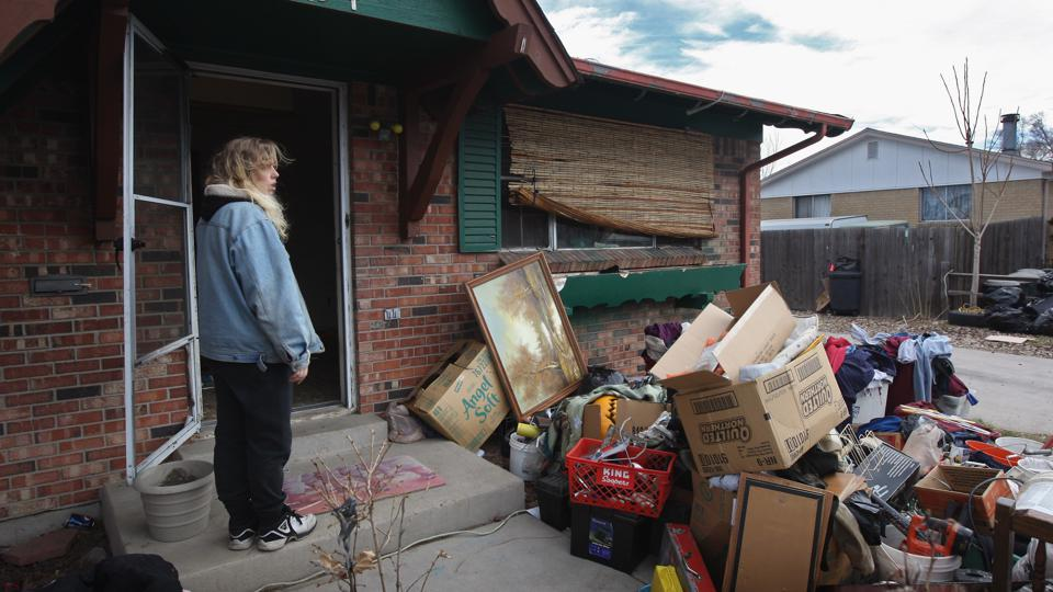 Families Are Evicted From Homes As Economic Crisis Worsens