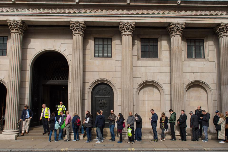 Line for bank note