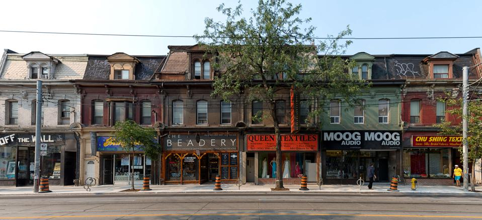 Queen Street West heritage building and everyday lifestyle...