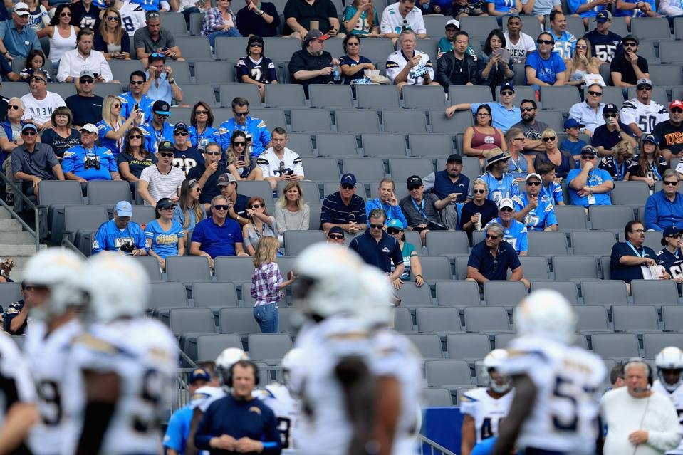 Image result for la chargers empty stadium