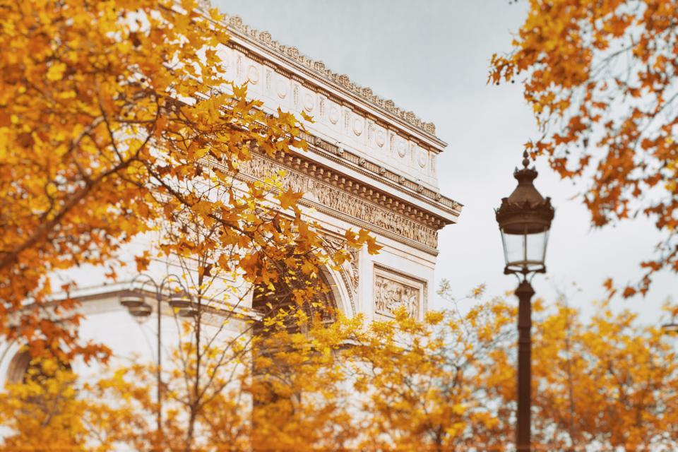 Arc De Triomphe in Autumn Leaves