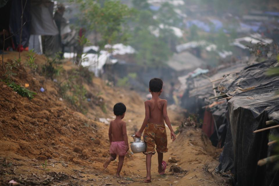 Rohingya people fled from oppression in Myanmar