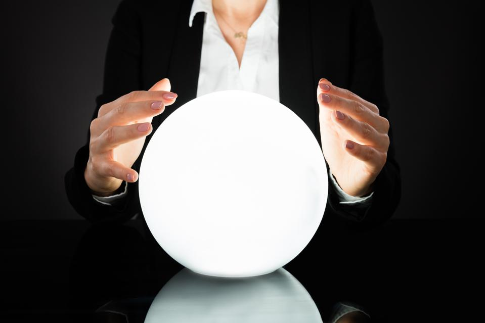 Businesswoman On Crystal Ball