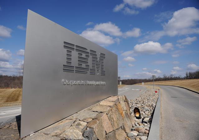 A sign marks the entrance to IBM Corporate Headquarters March 20, 2009 in Armonk, New York. International Business Machines Corporation is a multinational computer technology and IT consulting corporation founded in 1896 as the Tabulating Machine Company. AFP PHOTO/Stan Honda (Photo credit should read STAN HONDA/AFP/Getty Images)