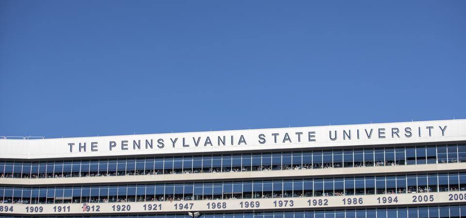 This is a photo of a Penn State University sign.