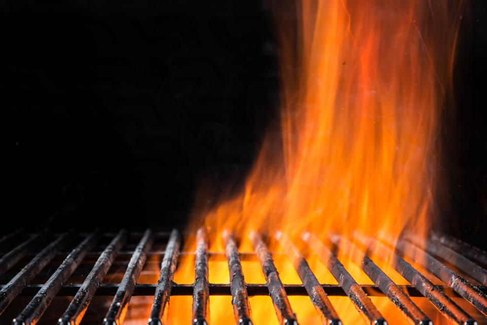 Empty BBQ Flaming grate