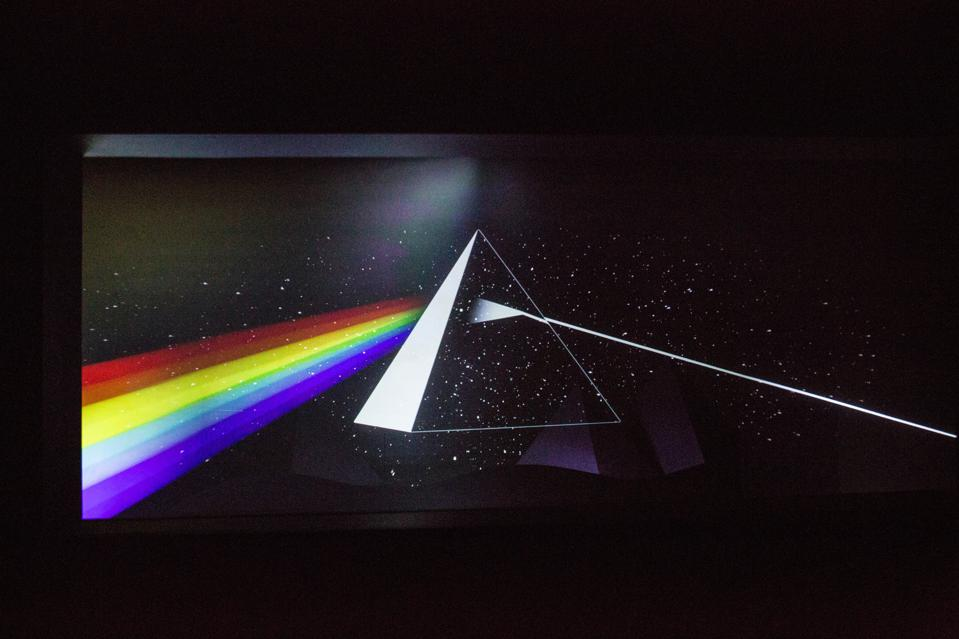 An artwork issued from the album cover The Dark Side of...