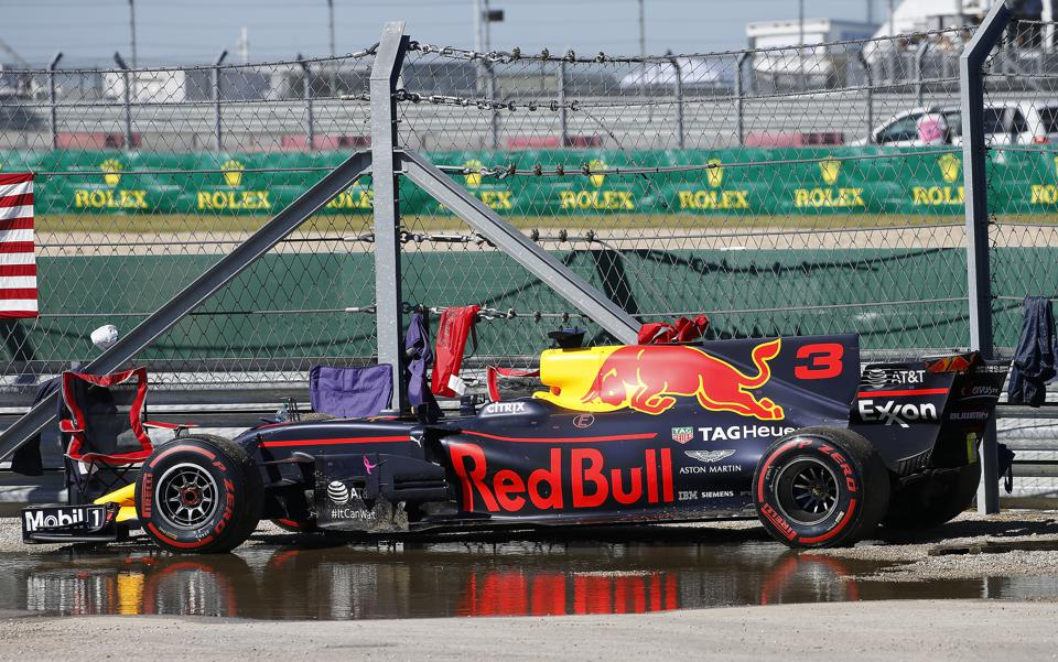 F1's biggest-spending US sponsor is oil giant ExxonMobil which appears on the side of the Red Bull Racing rear wing (David John Griffin/Icon Sportswire via Getty Images)