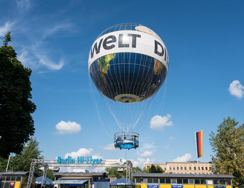 Die Welt Berlin Hi-Flyer balloon rises over city