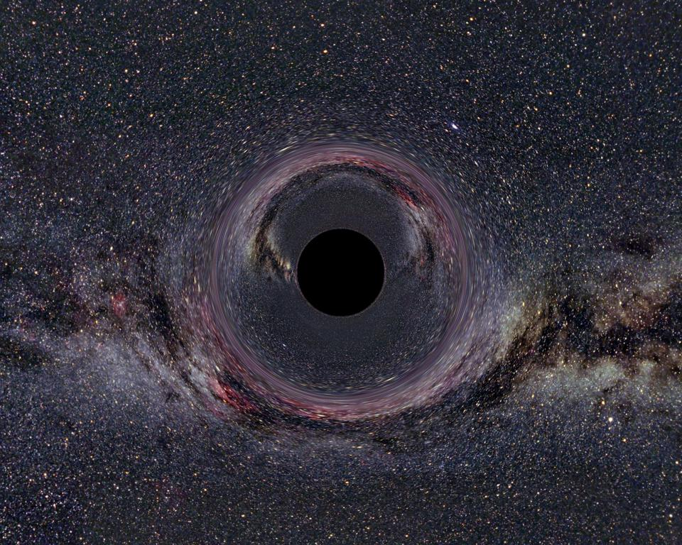 A black hole in the milky way.