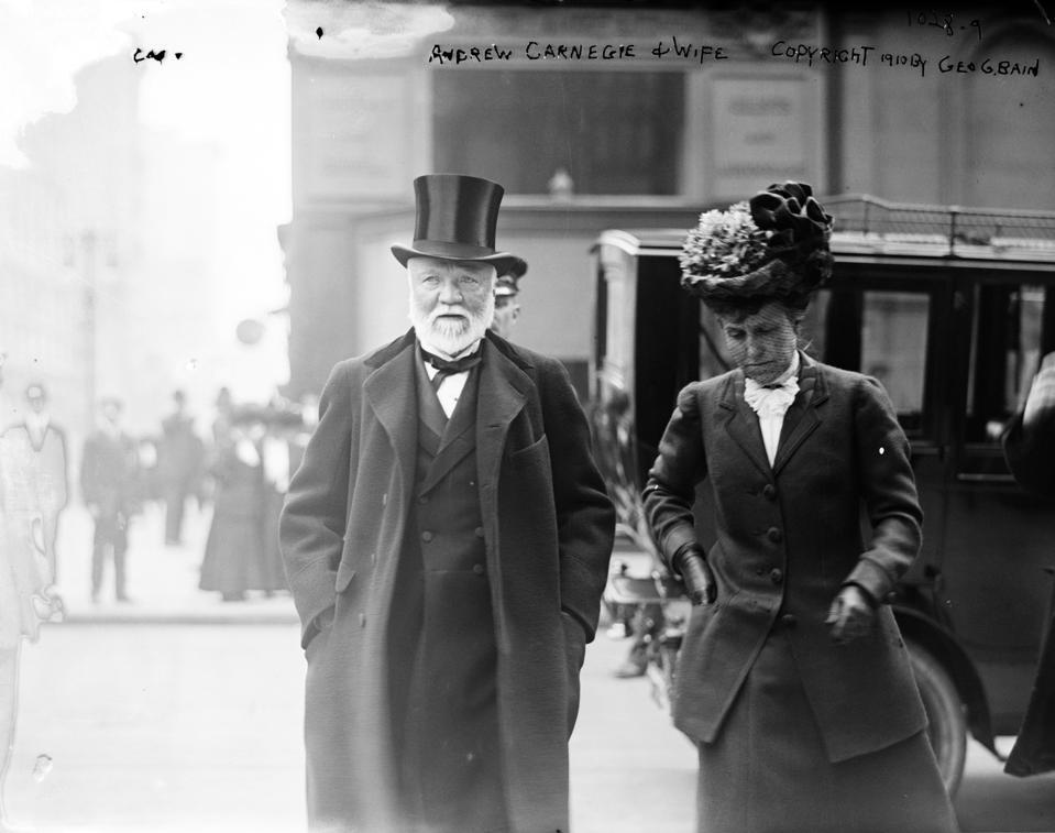 Andrew Carnegie Portrait wtih Wife