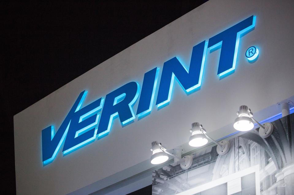 The Verint logo from the New York-based analytics company...