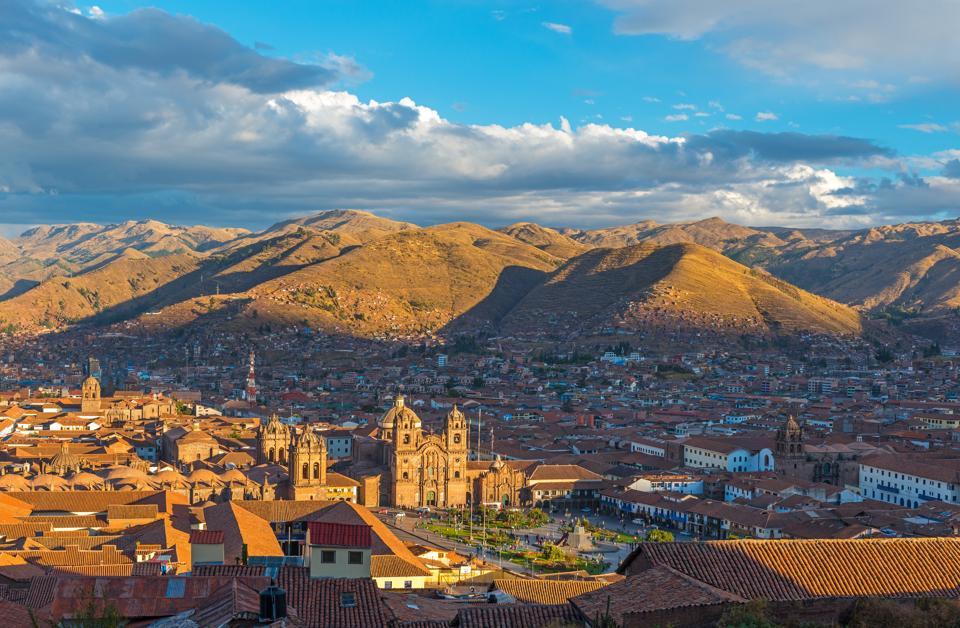 Cusco Cityscape at Sunset