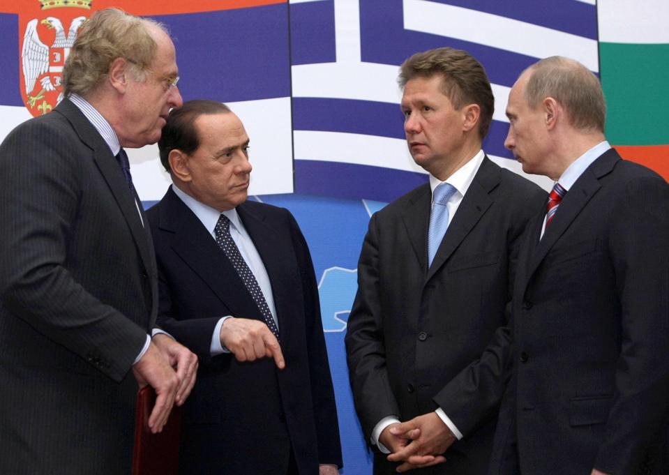 Russian Prime Minister Vladimir Putin Scaroni Berlusconi