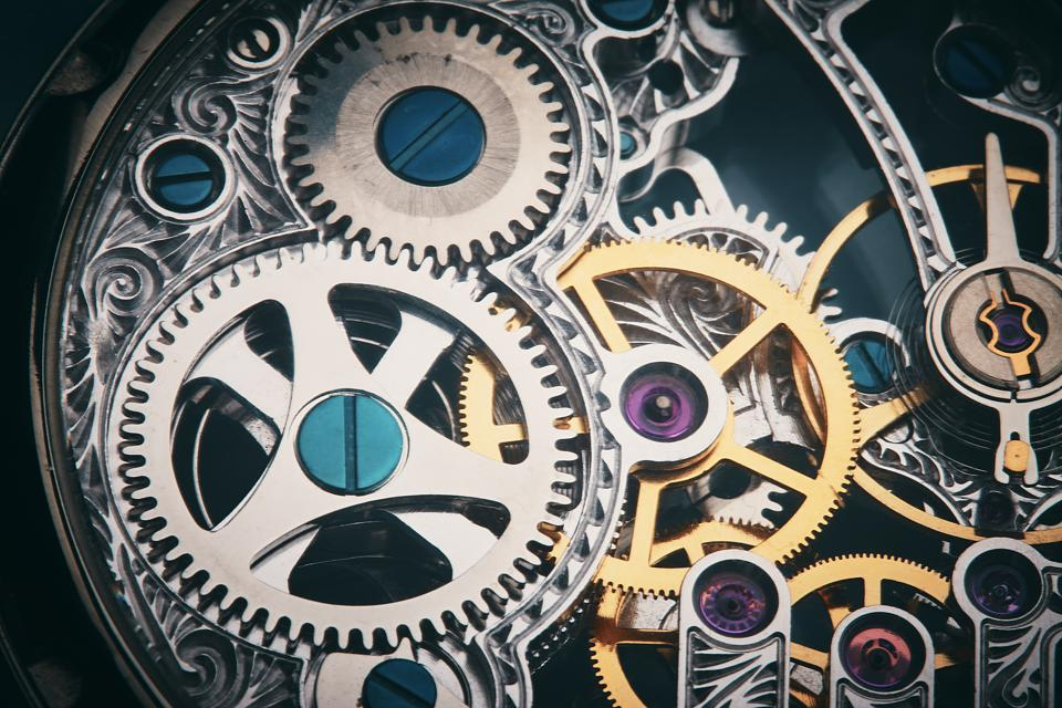 Clockwork: the inner mechanism of a watch