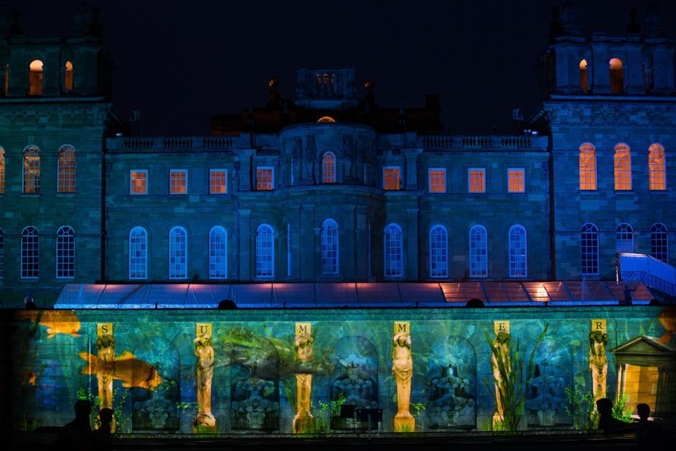 Christmas lights at Blenheim Palace