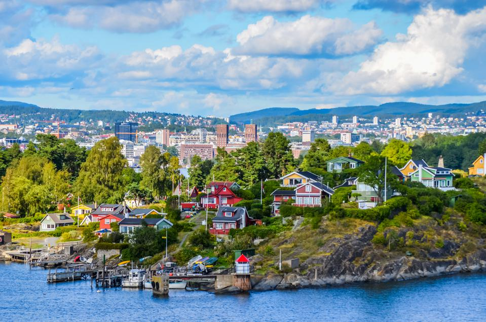 Hovedøya island with the city of Oslo in the background.