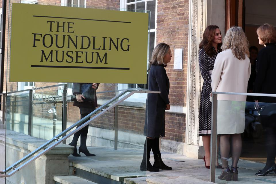 The Duchess Of Cambridge on the steps of The Foundling Museum