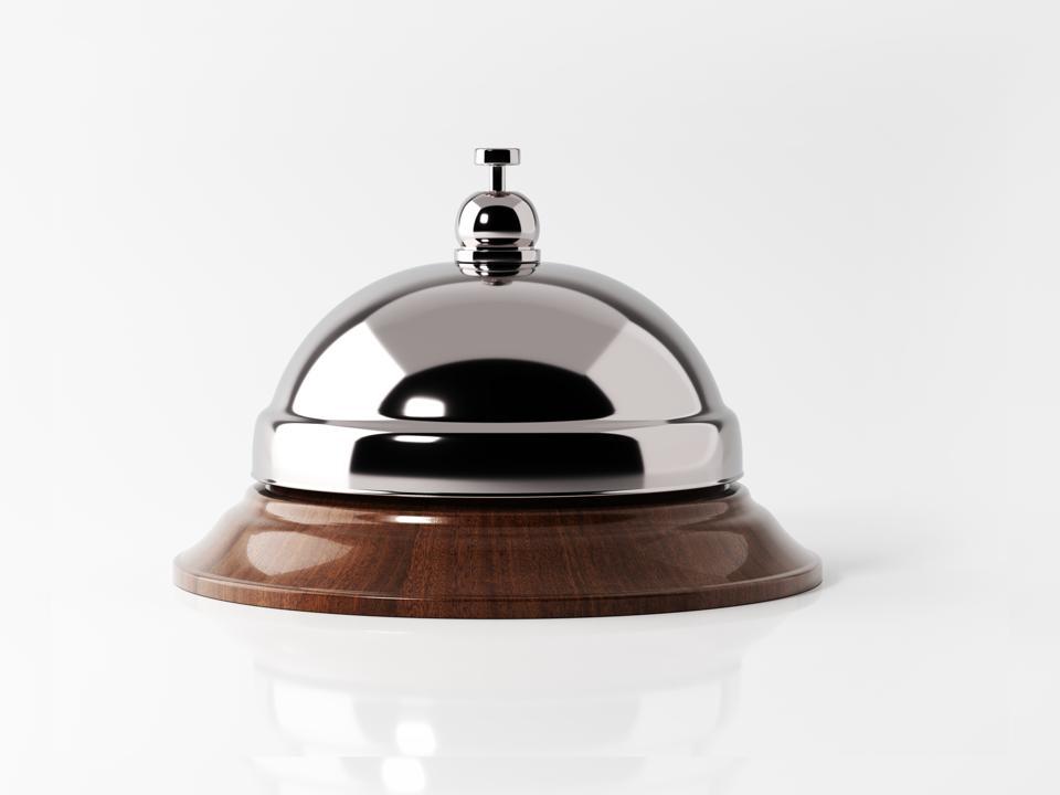 A concierge bell, without a concierge