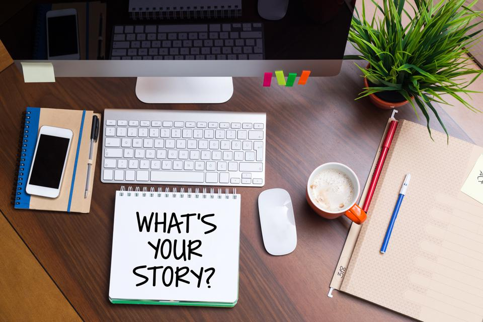 Business Workplace with WHAT'S YOUR STORY? Concept