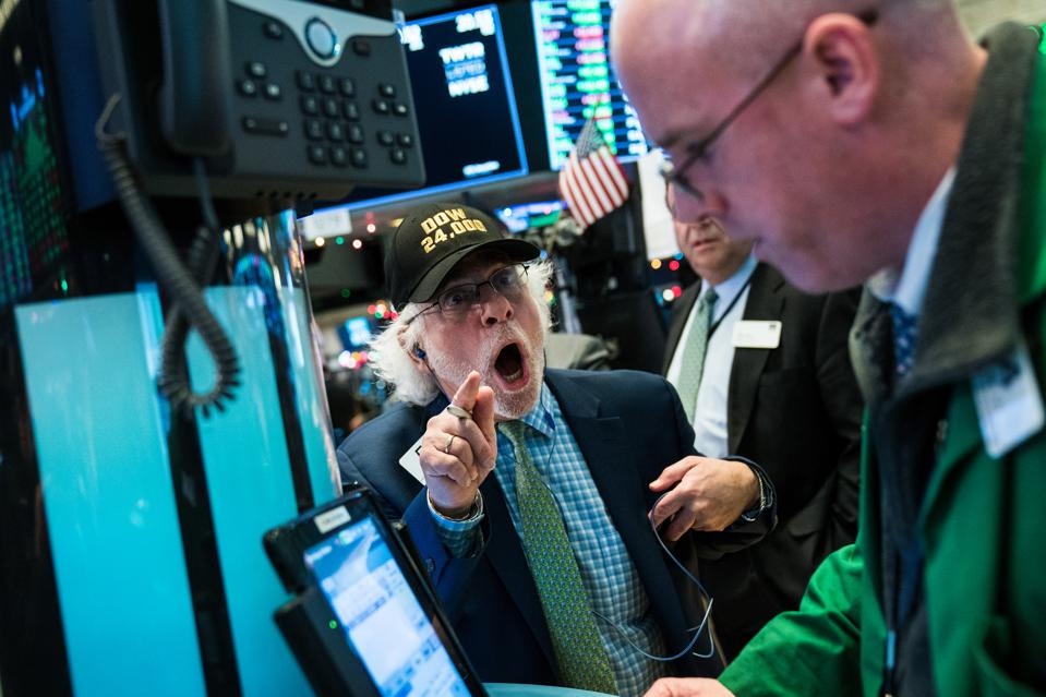Dow Closes Over 24,000 For The First Time As NYSE Lights Annual Christmas Tree