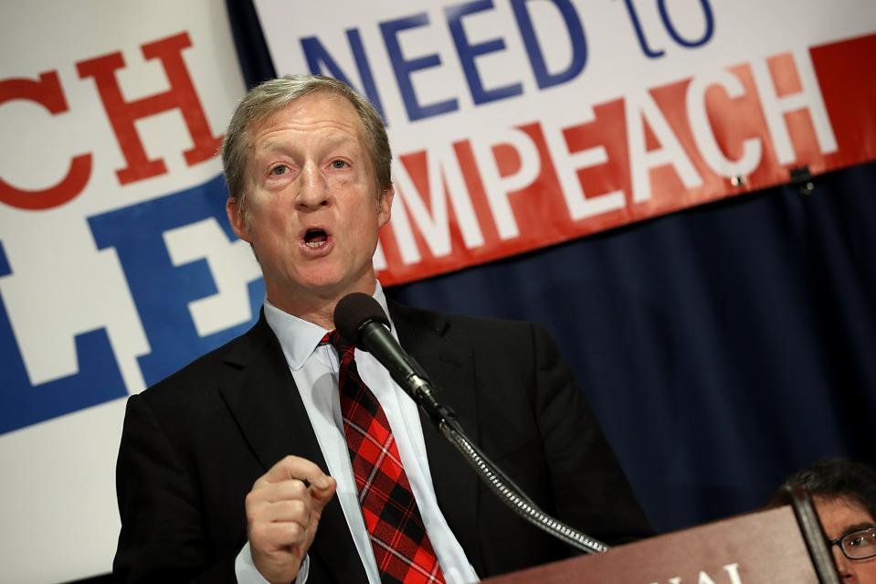Impeach Trump Movement Leader, Fund Manager Tom Steyer Holds News Conference In D.C.