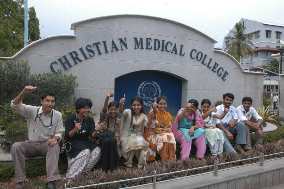 Students of Christian Medical College (CMC) at Vellore in Tamil Nadu, India