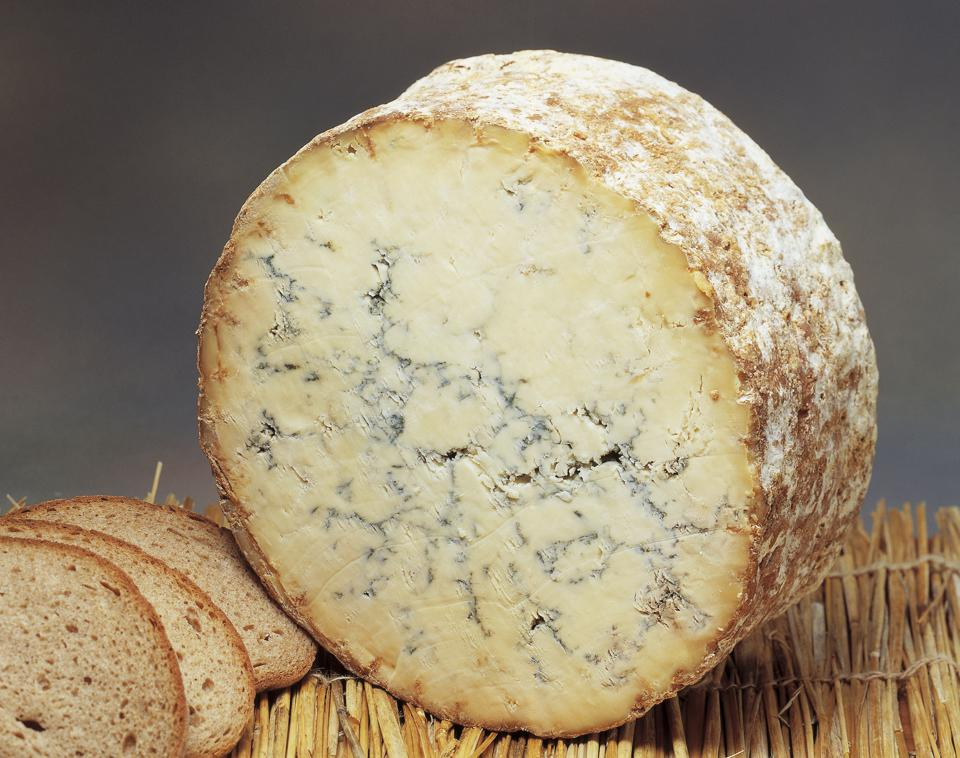 Close-up of Stilton cheese