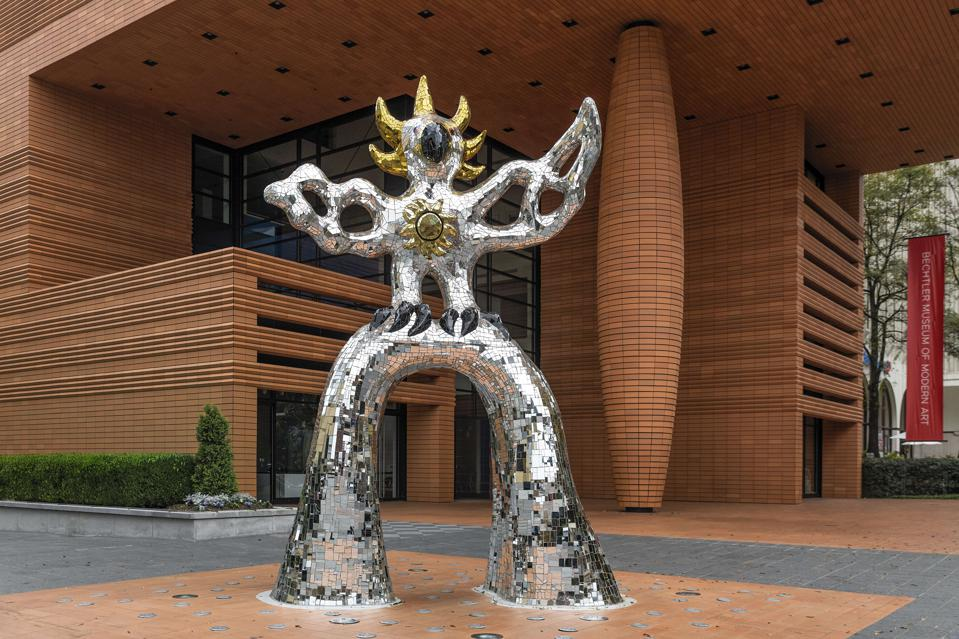 Firebird sculpture at the Bechtler Museum of Modern Art...