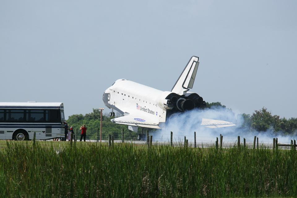 Space Shuttle Endeavour Returns To Kennedy Space Center