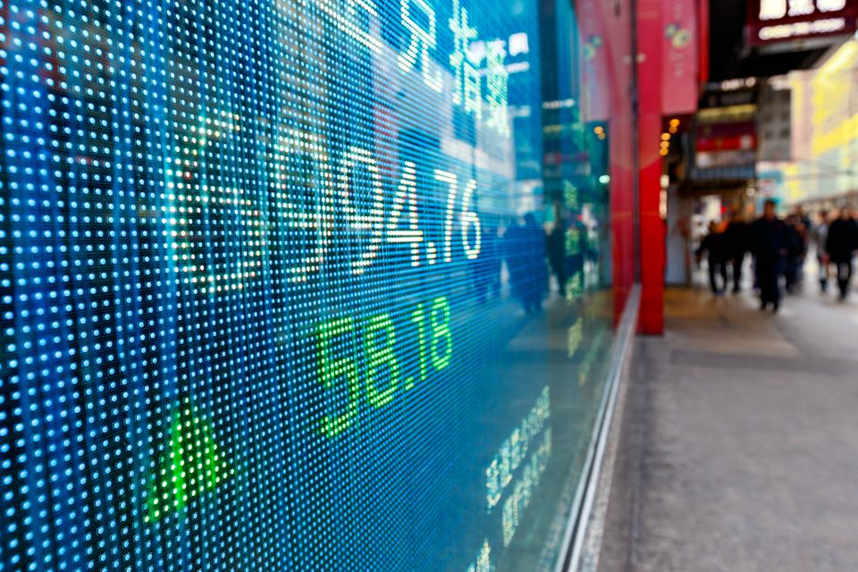 Display stock market charts in street