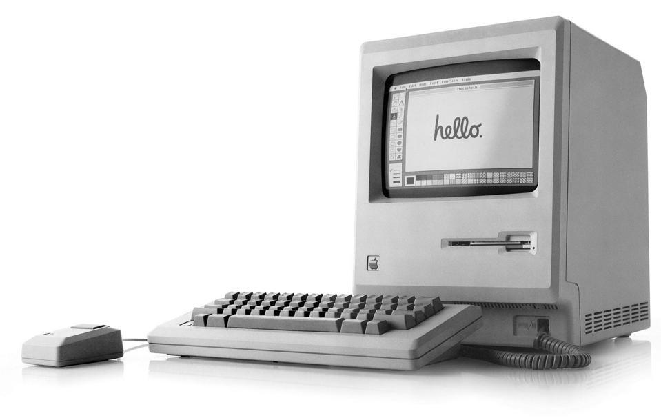 1st Apple Macintosh (Mac) 128K computer, released january 24, 1984 by Steve Jobs