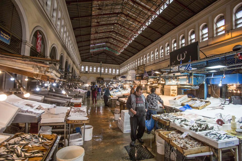 Central Fish Market in Athens, Greece