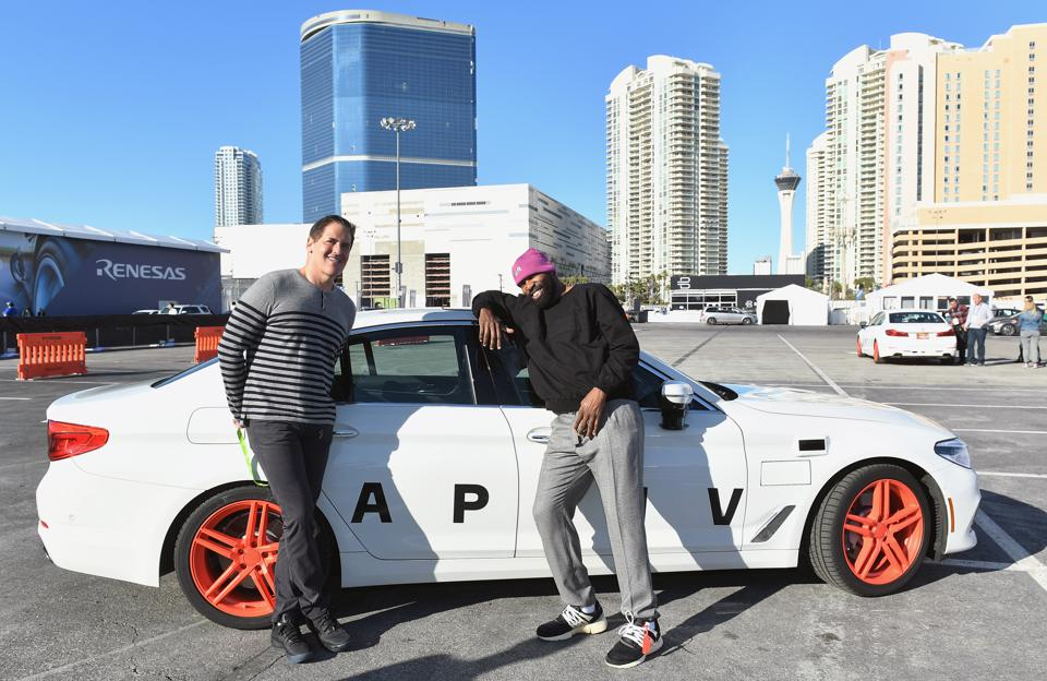 Celebrities Ride Into The Future With Lyft and Aptiv Self Driving Cars At CES In Las Vegas