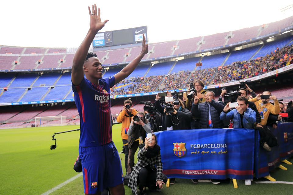 Yerry Mina was never given the chance to impress at FC Barcelona
