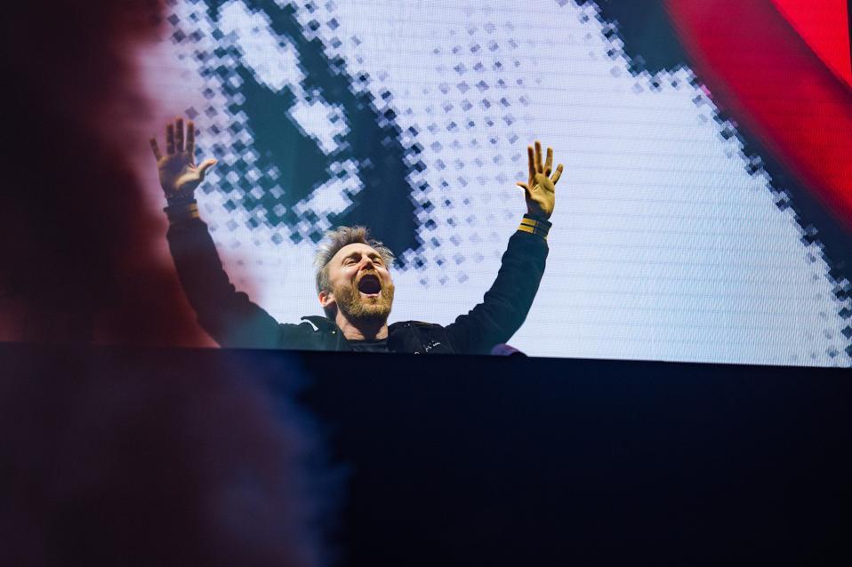 David Guetta Performs At AccorHotels Arena In Paris