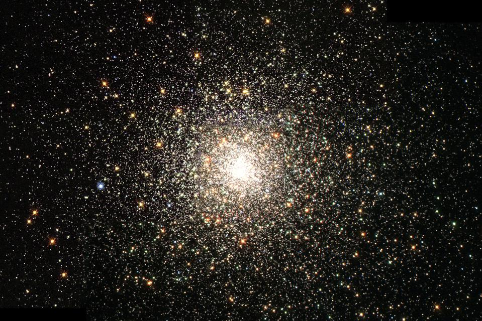 M80/NGC 6093, one of the densest globular star clusters in the Milky Way galaxy, which contains hundreds of thousands of ancient stars.