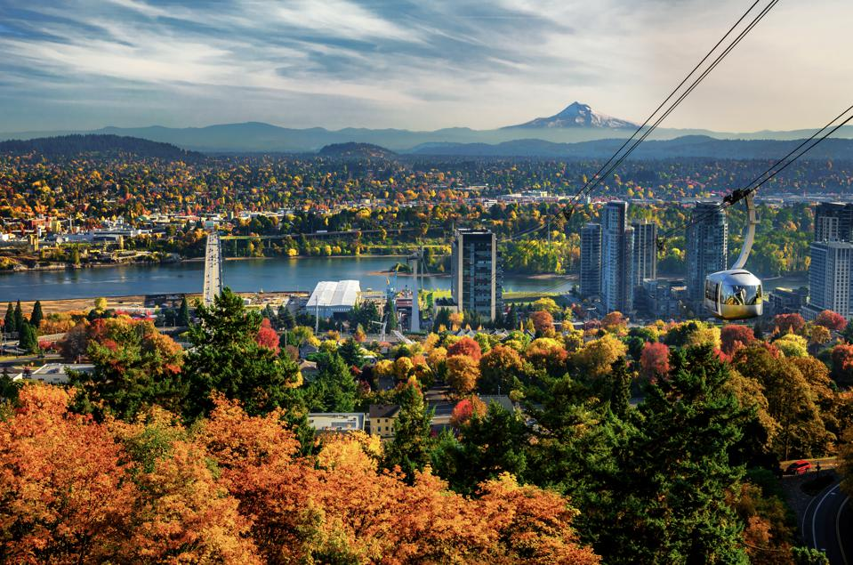 Portland, Oregon, where voters approved gas and income tax hikes in the May 19 primary.
