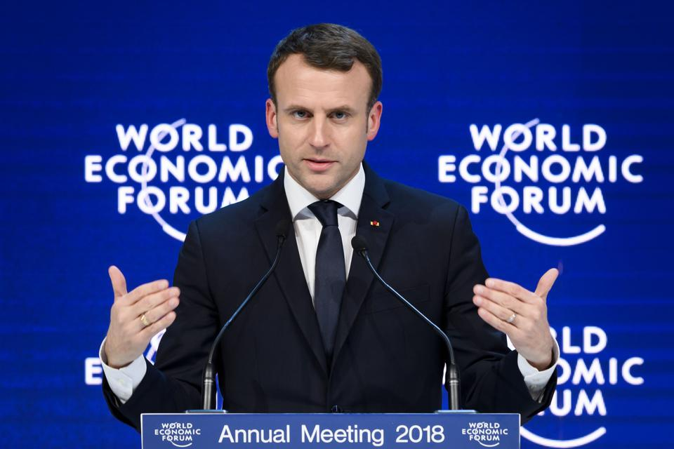 Macron To Announce New Rules On Stock Options; Report States France Now Above U.K. For Attracting Talent